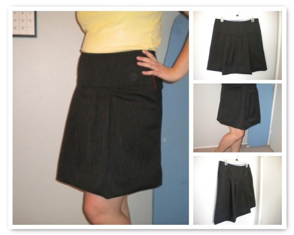 Mosaic image of the A+ A-Line skirt, sewn by Lisa.