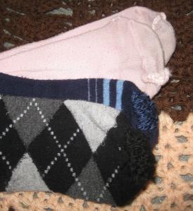 Three Darned Socks