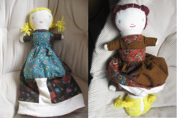 Topsy Turvy doll from Margot pattern in Wee Wonderfuls