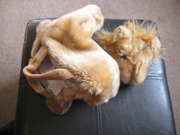 Ripped Lion in need of Stuffed Animal Mending