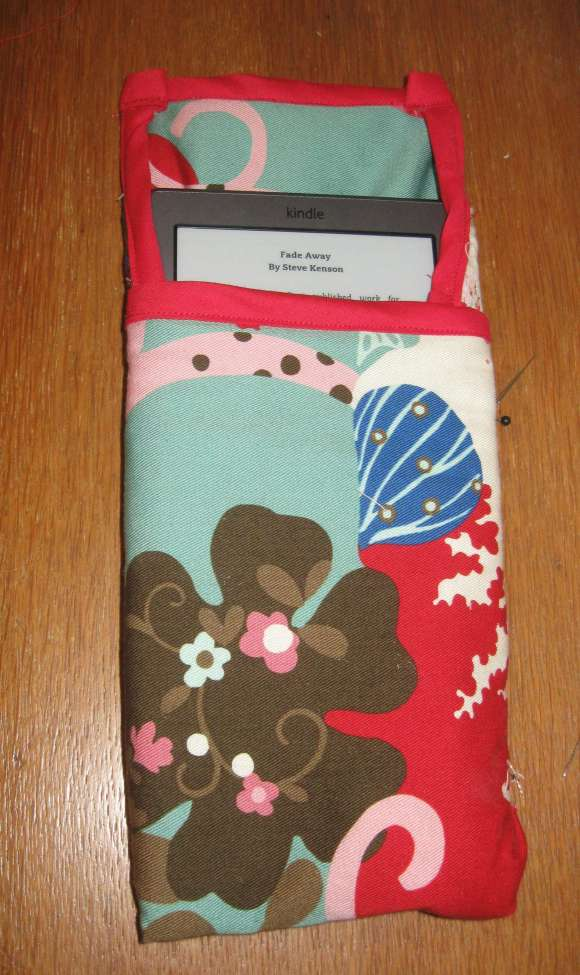 Fabric Kindle Cover -- handmade!